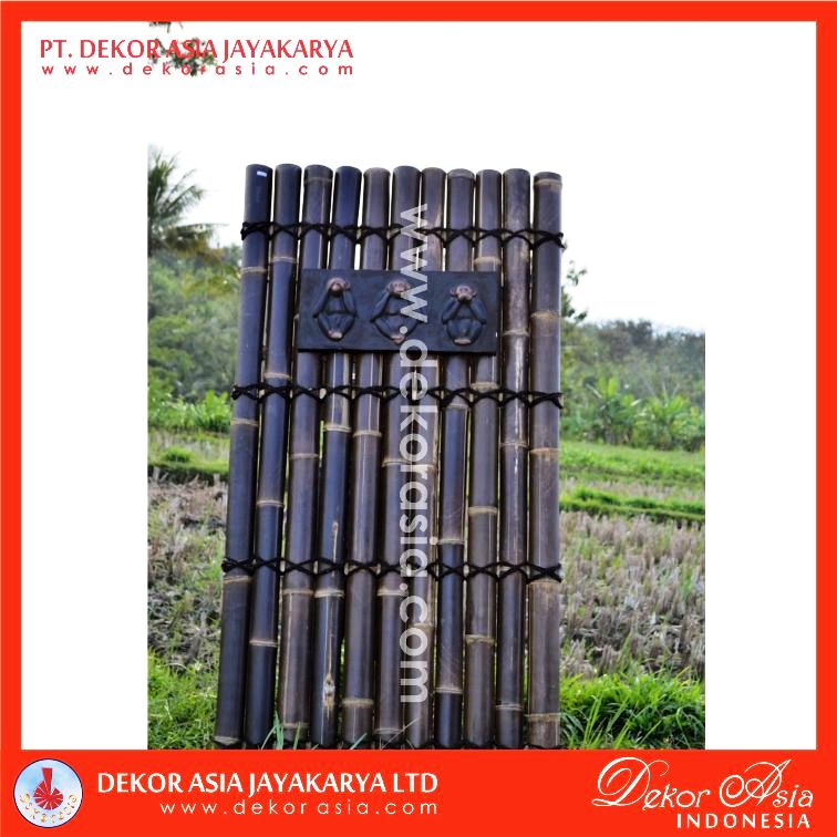 Black Bamboo Half Raft Panel
